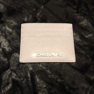 Michael Kors Card Case. Gray / Purple